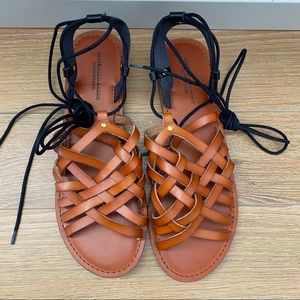 American Eagle-Gladiator Lace Up Ankle Sandals